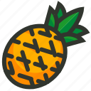 ananas, food, fruit, juice, pineapple, tropical icon
