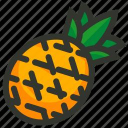 ananas, food, fruit, juice, pineapple, tropical icon
