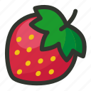 food, fruit, juice, strawberry icon