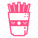 fastfood, food, junkfood, potato, stick icon