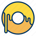 dish, doughnut, food, restaurant icon