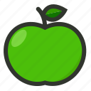 apple, food, fruit, green icon