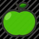 apple, food, fruit, green