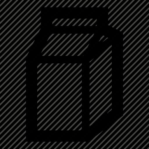 box, carton, cow, drink, food, milk, pack icon