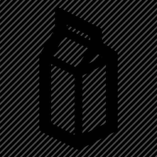 box, container, food, milk, milk carton, pack, product icon