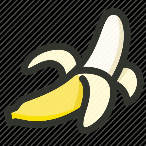 banana, fruit, healthy, peel, ripe icon