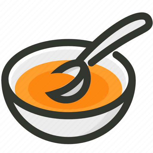 appetizer, bowl, dish, food, soup, spoon icon