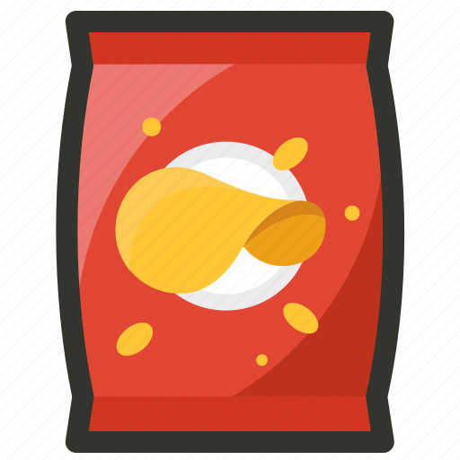 chips, food, junk, pack, potato, snack icon