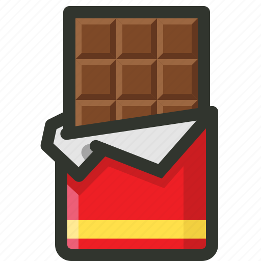 bar, chocolate, cocoa, dark, sweet, yummy icon