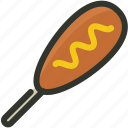 corn, dog, fast, junk, sausage, snack icon