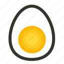 breakfast, egg, food, half, yolk icon