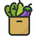 bag, food, gastronomy, grocery, vegetable icon