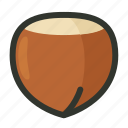 food, hazelnut, kernel, nut, nutshell, vegetable icon