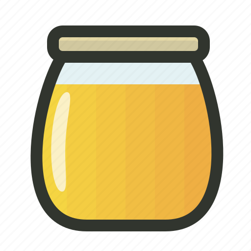 bottle, food, glass, honey, jar icon