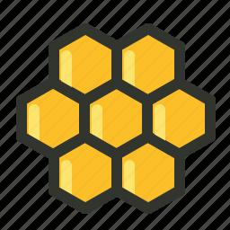 beeswax, food, honey, honeycomb, wax icon