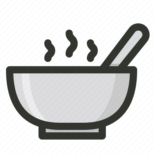 bowl, dish, food, hot, meal, soup icon