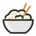 bowl, food, grain, meal, rice icon