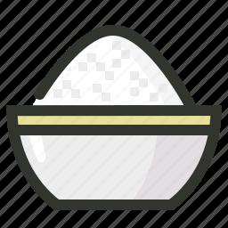 bowl, food, meal, sugar icon