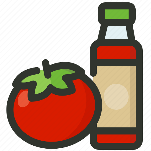 bottle, ketchup, sauce, spice, tomato icon