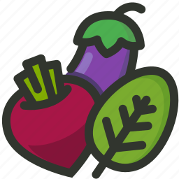 beet, food, leaf, root, spinach, vegetables icon