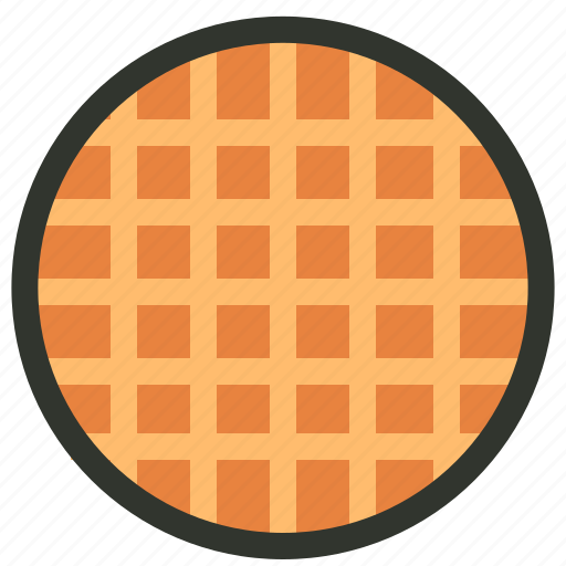 breakfast, food, toast, waffle icon