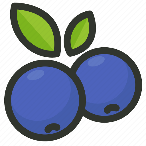 berry, blueberries, blueberry, fruit icon
