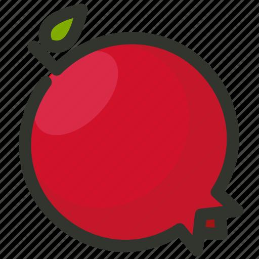 fruit, juicy, pomegranate icon