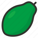 fruit, papaya icon