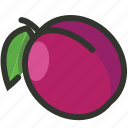 fruit, juicy, organic, plum icon