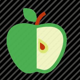 apple, food, fresh, fruit, healthy, organic, sweet icon