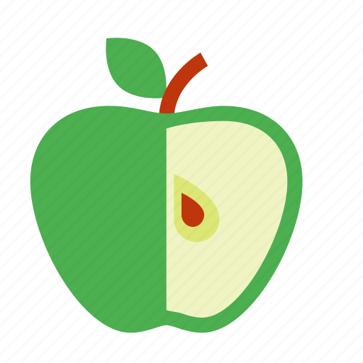apple, food, fresh, fruit, healthy, organic, sweet icon