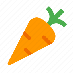 carrot, diet, fresh, healthy, organic, root, vegetable icon