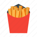 fast, food, french, fries, potato icon