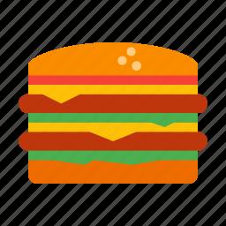 burger, cheeseburger, fastfood, food, hamburger, junk, snack icon