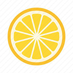 citrus, fruit, healthy, juice, lemon, slice, sour icon