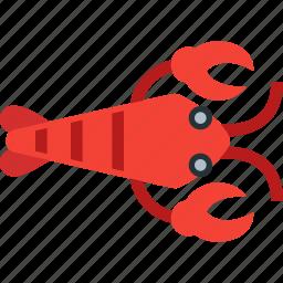 cooking, crab, lobster, ocean, restaurant, seafood, shrimp icon