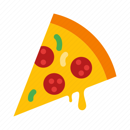 cheese, italian, lunch, pizza, slice, snack, tasty icon