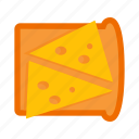 bread, breakfast, cheese, fast, food, gastronomy, sandwich icon