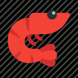 food, gastronomy, ocean, prawn, seafood, shrimp, sushi icon