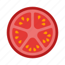 tomato, vegetable, healthy, cooking, food, slice, vegetarian icon
