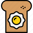 bakery, bread, egg, food, with icon