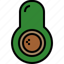 avocado, food, fruit icon