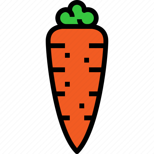 carrot, food, fruit icon