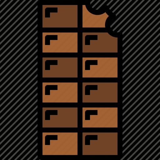 chocolate, dessert, food icon