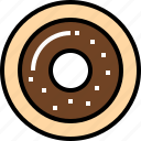 dessert, doughnut, food icon