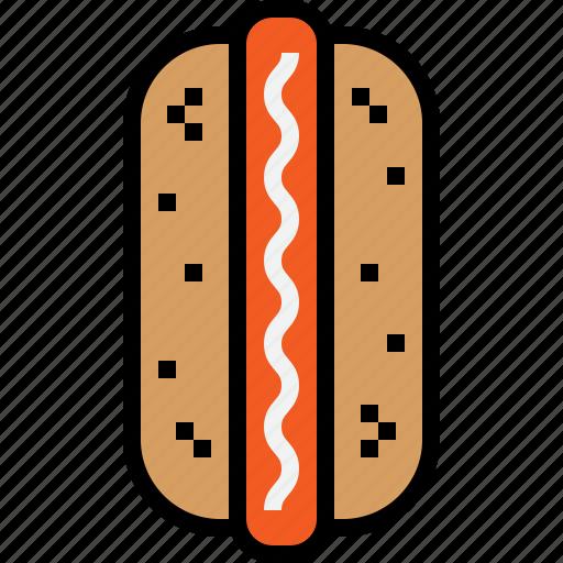 food, hotdog icon