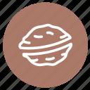 allergens, cooking, dessert, food, nuts, nutshell, walnuts icon