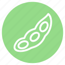 allergens, beans, food, healthy, plant, soy, soybeans icon