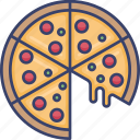 fast, food, junk, meal, pizza, slice icon