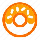 beverage, donut, food, meal icon